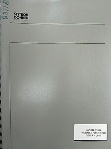 Systron Donner Model 2311a Variable Persistence Display Unit Op Service Manual
