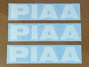 3 Piaa Die Cut Stickers Performance Lights Off Road Rally Racing Decals Letters
