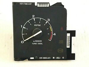 92 96 Ford Truck Turbo Diesel Tachometer Rpm Gauge F250 F350 Pickup Tach Power