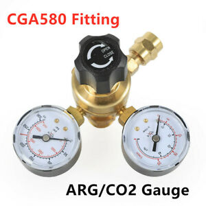 Cga580 Flow Meter Regulator Argon Co2 Welding Regulator Gauge Gas Welder Us