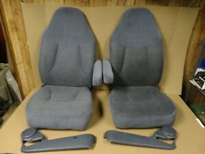 92 96 97 Ford Truck Bronco Factory Reclining Front Bucket Seats Captain Chairs