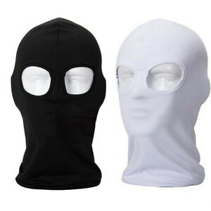 2 Hole Balaclava Full Face Mask Motorcycle Cycling Hood Beanie Tactical Cover US $5.98