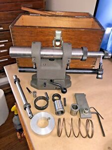 News Yuasa End Mill Sharpening Fixture Machinist Grinding Tool In Wooden Case J