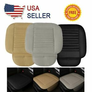 Car Breathable Front Seat Cover Cushion Pu Leather Chair Pad Half Surround Mat