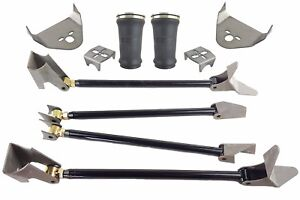 Weld On Triangulated 4 Link Kit W rear Brackets Sleeve Bags Air Ride Suspension