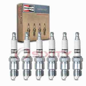 6 Pc Champion Copper Plus Spark Plugs For 1970 1974 Checker A11e 4 1l L6 Sz