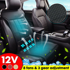 8 Cooling Fan Car Seat Cover Breathable Universal Pu Front Car Seat Protector