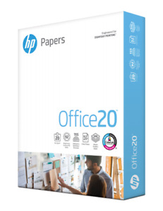 Hp Office 20 Copy Paper 8 1 2x11 4 Reams 2000 Sheets