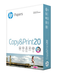 Hp Business 20 Copy Paper 8 1 2x11 4 Reams 2000 Sheets