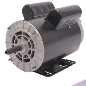New 5hp 5 8 3450rpm Compressor Duty Electric Motor 1phase 56frame Shaft Usa