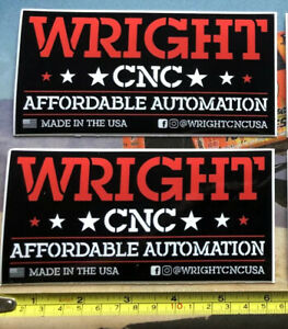 2 Wright Cnc Automation Decals Stickers Racing Offroad Utv Ultra4 Bitd Koh Buggy