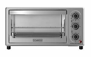 Brand New 6 slice Counter Top Toaster Oven Stainless Steel Finish Fast Ship