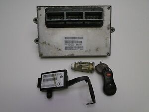 02 Jeep Grand Cherokee 4 0 Ecu Ecm Computer Immobilizer Key 56044357ab