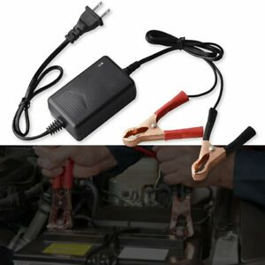 1pc Car Battery Charger Maintainer Auto 12v Trickle Rv For Truck Motorcycle Atv