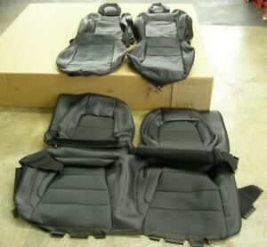 Oem 2015 2019 Ford Mustang Coupe Seat Covers Black Leather Nos Gt 2016 2017 2018