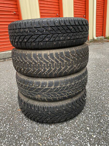 4 Goodyear Winter Tires 175 65r14