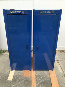 Matco Blue Left Right Side Hang Tool Boxes 4025sl With Hangers Locker Style