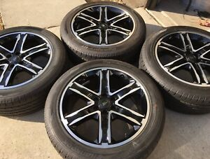 New 4 2021 22 Oem Ford Expedition F150 Stealth Black Wheels Rims Tires F 150