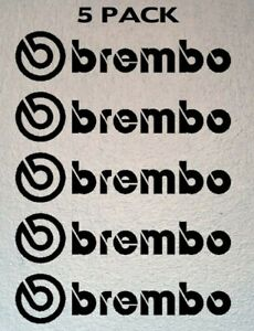 Set Of 5 Brembo Brake Vinyl Decal Caliper Stickers choose Your Color