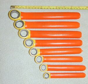 Cementex 1000v Insulated 8 Piece 12 Point Box End Wrench Set 3 8 To 13 16