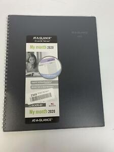 At a glance 2020 Monthly Planner Dayminder 8 1 2 X 11 Large Gray gc47007