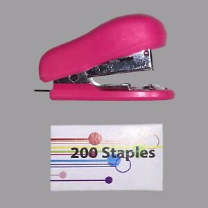New Mini Stapler 200 Staples Perfect For School travel 12 Piece Of Paper Max