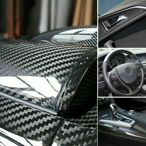 Auto Accessories 7d Glossy Carbon Fiber Vinyl Film Car Interior Wrap Stickers Us