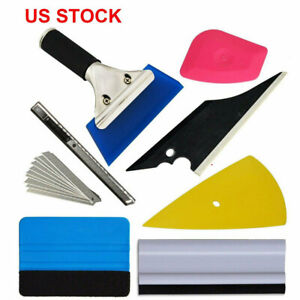 8pcs Car Window Tint Kits Wrapping Vinyl Tools Squeegee Scraper Applicator Kits