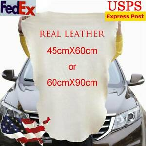 Natural Chamois Real Leather Car Cleaning Cloth Wash Absorbent Towel 60x90 45x60