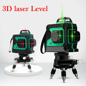 12 Lines 3d Laser Level Red Light Self leveling Tool For Construction W Charger