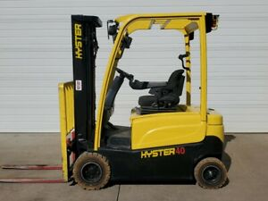 2012 Hyster J40xn Electric 3 Stage Mast Forklift Narrow Aisle Lifttruck Yale