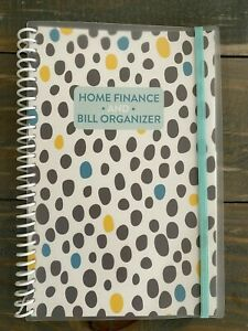 Home Finance And Bill Organizer Monthly Folder Pockets Multicolor Polkadots
