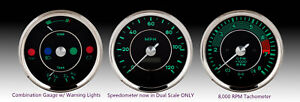 Genuine Vdo Gauge 3 Pc Set 356 550 Beck Speedster Spyder Porsche 2 Year Warranty