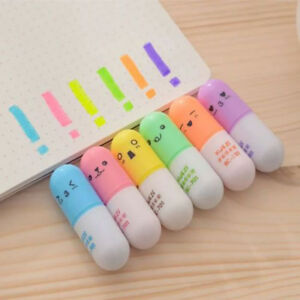 6pcs set Mini For Cute Stationery Highlighter Pen Supplies Writing School Office
