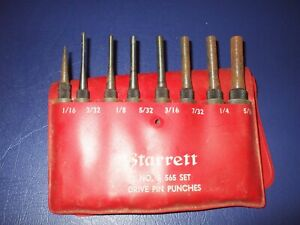 Starrett Set Of 8 Drive Pin Punches S565 d4