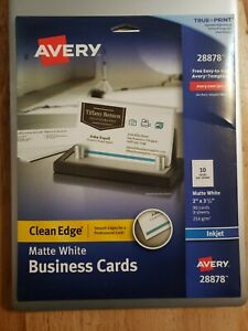 Avery Printable Business Cards Inkjet Printers 90 Cards 2 X 3 5 Clean Edge White