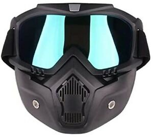 Airsoft Tactical Paintball Protective Combat Helmet Face Mask Black $12.96