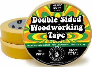 3 Pk Double Stick Tape For Woodworking 1 Inch Wide Wood Tape Double Sided