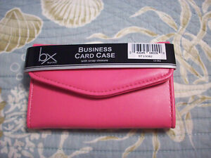 Buxton Pink Business Card Case Holder Wallet 4 5 X 3 New Free Ship