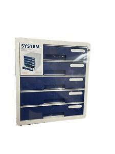 System 2 Key File Cabinet 5 Drawers Lock Function Sysmax Office Life New