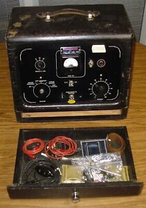 Fischer Corp Vtg Portable Electro Therapy Machine Quack Medical Device
