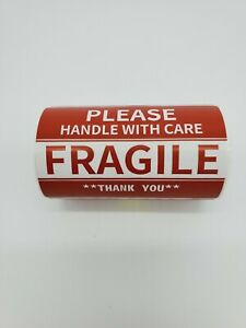 Roll Of 100 2x3 Fragile Stickers