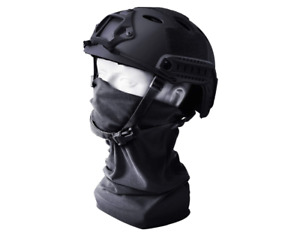 Tongcamo Fast PJ Paintball Airsoft Helmet for Training Rescue Climbing BLACK $41.99