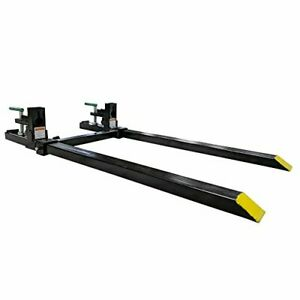 Titan Attachments Clamp On Pallet Forks Light Duty 60 In 1500 Lb Max With Sta