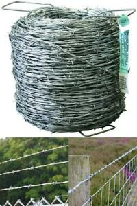 Durable Barbed Wire Fencing 1320 Ft 12 1 2 gauge 2 point High tensile Farmgard