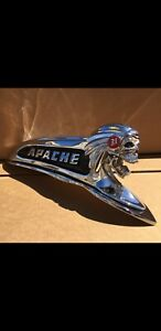1959 1958 Chevy Apache Pickup Truck Hood Emblem One Of A Kind