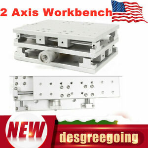 Workbench Worktable Xy Axis Laser Marking Machine Positioning Work Table Slivery