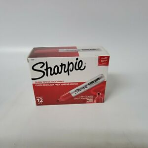 Sharpie King size Permanent Markers Red san15002 12 Each