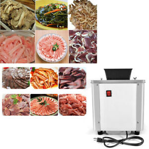 Commercial Electric Meat Slicer Shredding Cutting Machine Stainless Steel 550w