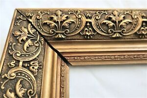 Small Antique Fits 6 X 9 Gold Picture Frame Wood Ornate Gesso Fine Art Country